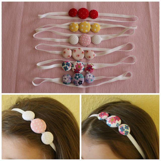 Mamma Gioca: Tutorial: come realizzare una fascia per capelli con bottoni di stoffa personalizzati
