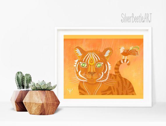 Tiger Print Nursery Animal Nursery Art Jungle Print Wall Tiger Art Nursery Boho Art Print Plant Tiger Poster Tiger Painting Postcards, greeting cards, poster, posters, print, prints, fairy, nuesery, wall decor, wall art. fairy tale, watercolor, watercolor, design, decor, wall art, art work, drawing, painting, artist, art studio, illustration, illustration, painting, sketch, paper , canvas, drawing, painting