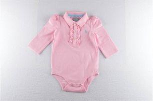 Tweedehandskinderboetiek - tweedehands kinderkledij meisjes - Ralph Lauren bodytje met franjes roze NIEUW (Ralph Lauren)