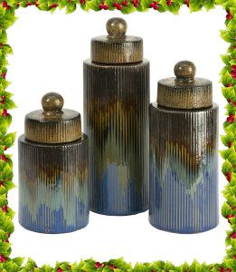 IMAX 94512-3 Frazier Ceramic Canisters, Set of 3 http://theceramicchefknives.com/ceramic-canister-sets-beautiful-long-lasting-gifts/