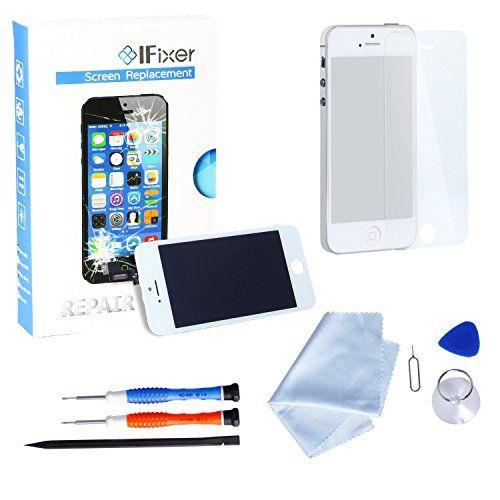 IFixer iPhone 5s LCD Display Bildschirm Ersatz Touchscreen Front Glas Ersatzteile-Set Werkzeugset inklusive Digitizer-Professionell Reparatur-Flussdiagramm Wei�
