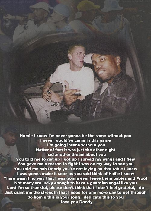 You're never over-Eminem-rest in peace proof
