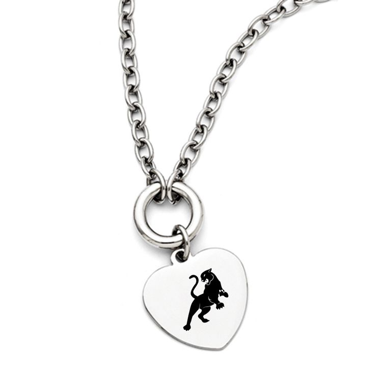 Sigma Lambda Gamma Symbol Stainless Steel Heart Necklace With Free Shipping