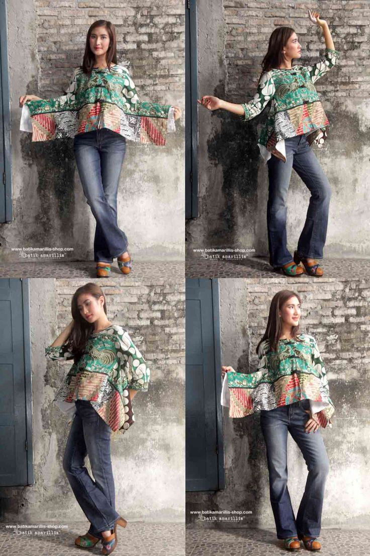 Batik  Amarillis's signature patchwork jacket :It's made with various Batiks of Indonesia when uniqueness of artwork and passion blended into something beautiful ,the story how to make it is pretty unique and a little bit complicated,how each batiks meticulously blended,also features with 3 handmade chinese frog buttons,lovely piping to frame out the whole look to come into life!
