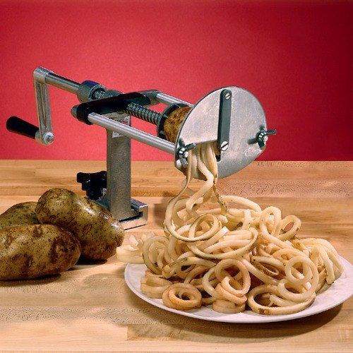 Curly Fry Cutter: How to Sensationalize Your Recipes At Home http://www.cutsliceddiced.com/heres-the-best-spiral-potato-cutter-in-the-market