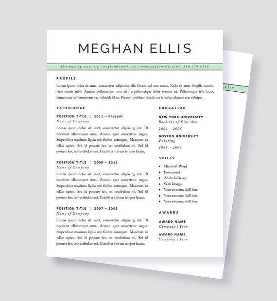 44 Best Resume Templates Images On Pinterest Cv Resume Template