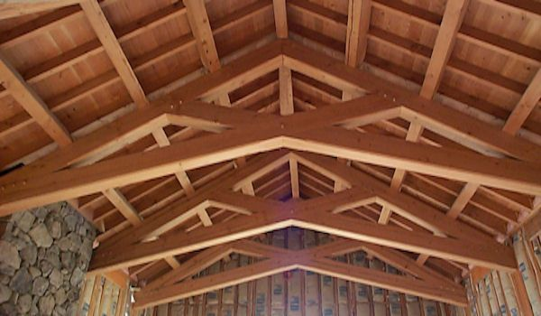 Scissor truss trusses king post trusses scissor trusses for Scissor truss design
