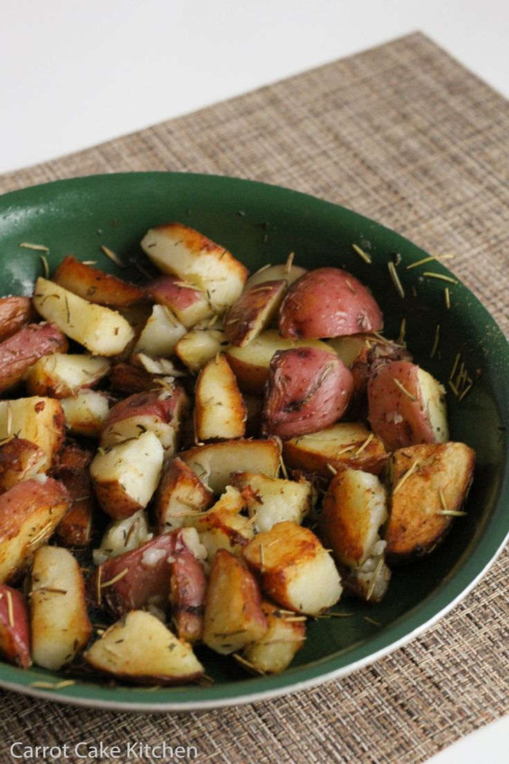 Flavorful stove-top rosemary potatoes make an easy, quick side dish.