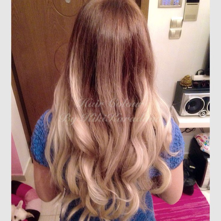 Ombre :ash Blonde  Long hair  Wave hairstyle  Hairporn/ hairday
