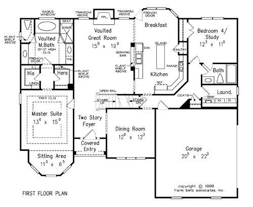 1000 images about frank betz designs on pinterest 2nd for Frank betz floor plans