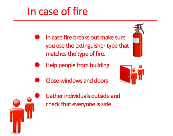 In Case Of Fire  Illustrations  Safety And Security