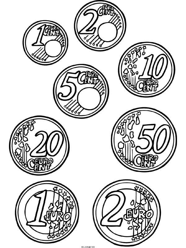 kleurplaat eurocenten