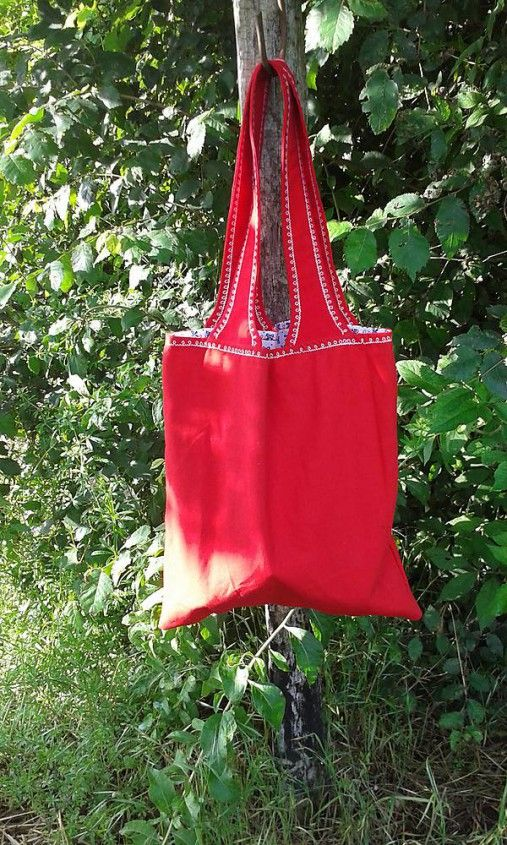 lienka97 / Nákupná taška červená karkulka