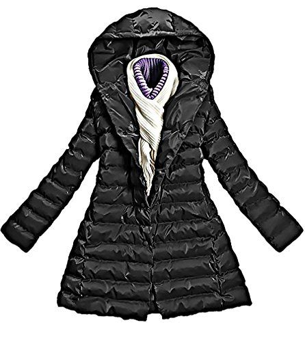 Womens Warm Wadded Jacket Hooded Windproof Coat C18 -- Click on the image for additional details.