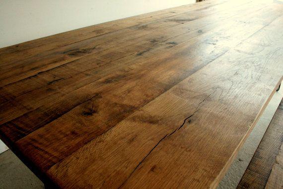 Bespoke Oak Dining Table & Bench set made by TheRetroStationUK