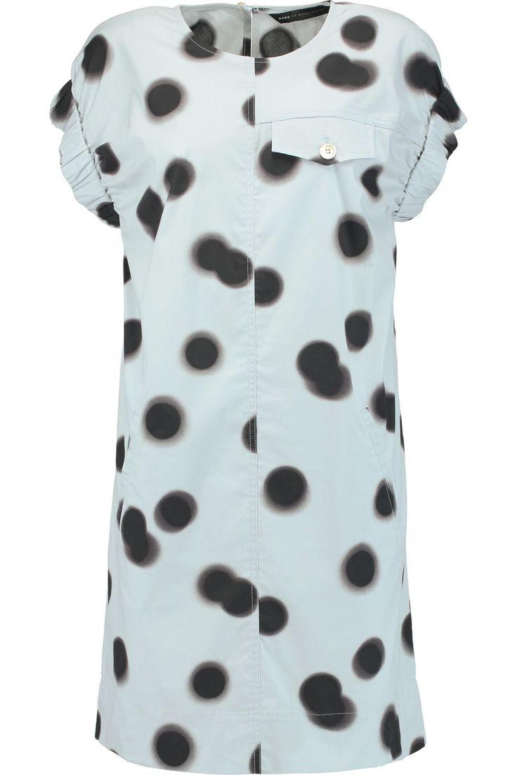 MARC BY MARC JACOBS Printed cotton mini dress. #marcbymarcjacobs #cloth #dress