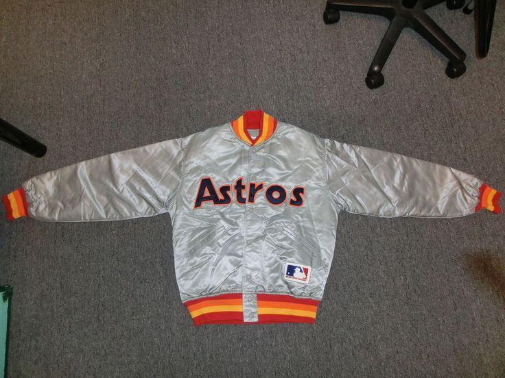 Houston Astros jacket satin baseball vintage M med Felco ...