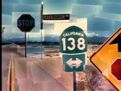 """Photographs: Pearblossom Hwy by David Hockney 	      Where do artists get their ideas?   What is perspective?   How can photography be like drawing or painting?        David Hockney touches on these and other issues while discussing the making of his photographic collage Pearblossom Hwy in this video. """