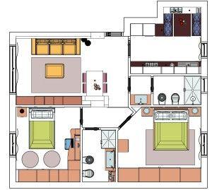 Cucina e soggiorno separati in 70 mq il blog di for Case con alloggi separati