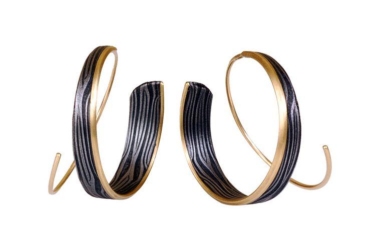 victoria moore, damascus steel, earrings