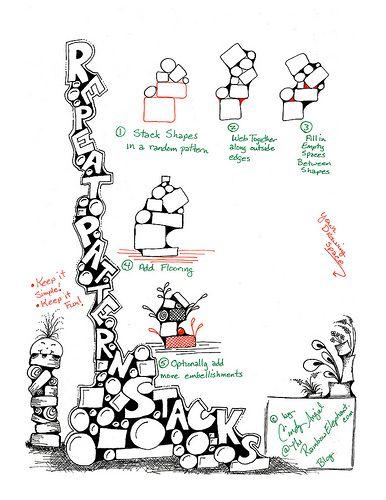 Wiederholungs-Muster-Stacks Arbeitsblatt