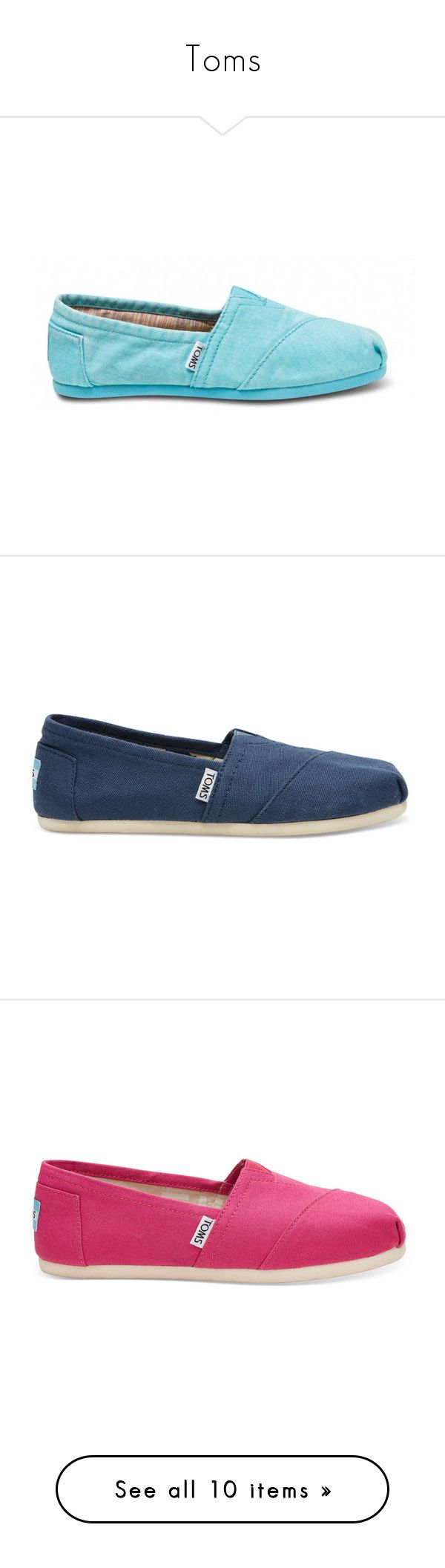 """""""Toms"""" by taytayholland ❤ liked on Polyvore featuring shoes, flats, navy, flat shoes, flat slip on shoes, navy blue flats, canvas flats, canvas slip on shoes, fuchsia and slip on shoes"""