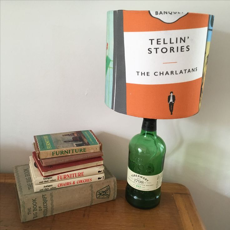 Lamp in Charlatans albums as book covers fabric. Available to purchase here: https://www.etsy.com/uk/listing/502107266/lamp-with-limited-edition-charlatans