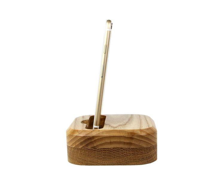 Beautiful Simple & Minimalistic iPhone 6/6S charging dock.  Wooden iPhone Dock | Lastu | Tech Meets Nature - LastuDock-for-iPhone-Ash-Oak  Hand Made in EU.