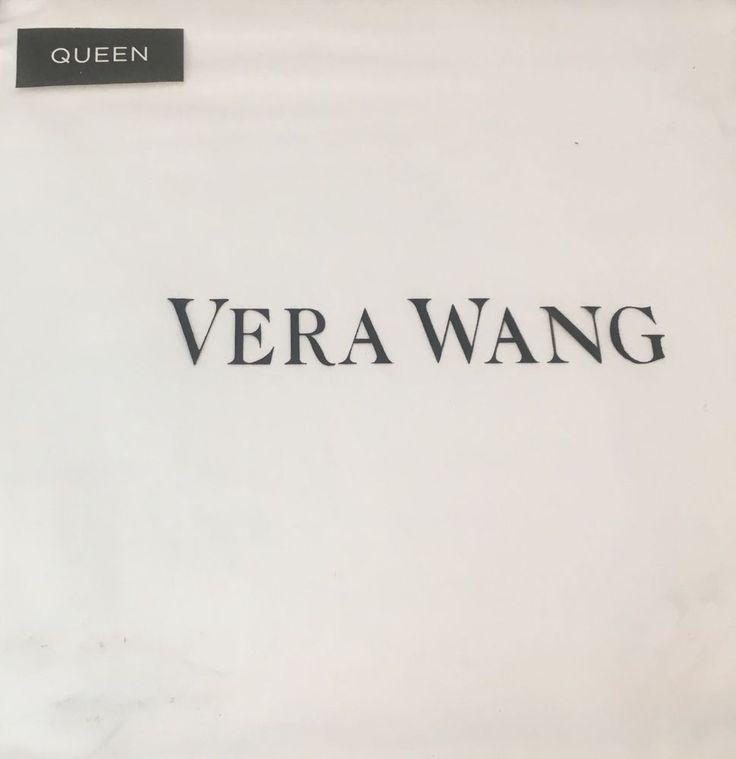 Vera Wang Queen Sheet Set White Luxurious Satin Weave 100% Cotton  #VeraWang #VeraWangHome #Bedding #SheetSet #Queen #QueenSheetSet #Home #Bedroom #Decoration #White #Satin #100%Cotton #Cotton #WhiteDecoration #Luxurious #Room
