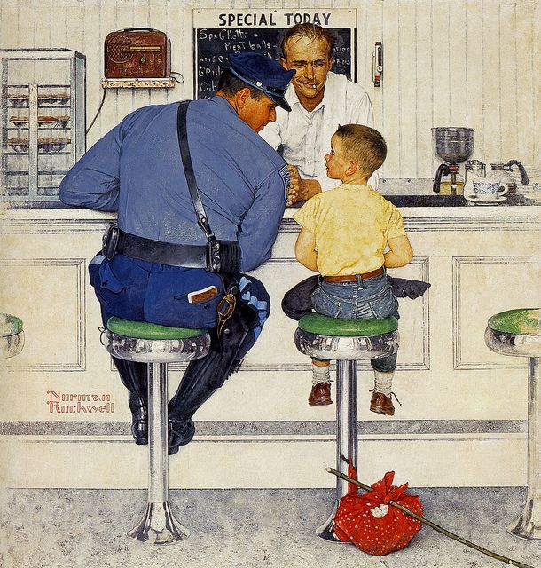 1958 ... The Runaway - Norman Rockwell