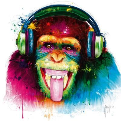 DJ Monkey Giclee Print by Patrice Murciano at Art.co.uk
