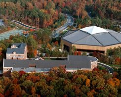 Buy Photo: Aerial View of the Dean Smith Center at UNC