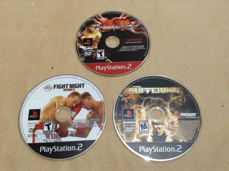 Tekken 5 Fight Night Round 3 The Suffering PS2 Games Lot of 3 Games PlayStation2