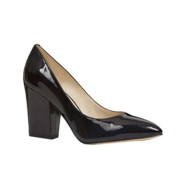 Women's Nine West Scheila Block Heel Pump ($62) ❤ liked on Polyvore featuring shoes, pumps, black, casual, heels, thick-heel pumps, thick heel shoes, black chunky heel pumps, black block heel pumps and heel pump