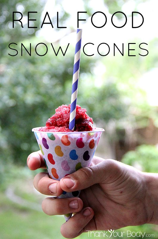 No corn syrup or artificial food dye here! Real food snow cones made of nothing but whole fruit.