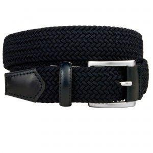 Cintura intrecciata elastica blu Brucle