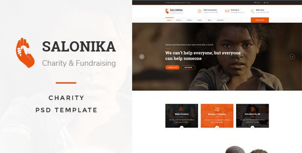 Salonika - Charity PSD Template - Charity Nonprofit Download here : https://themeforest.net/item/salonika-charity-psd-template/19804176?s_rank=275&ref=Al-fatih