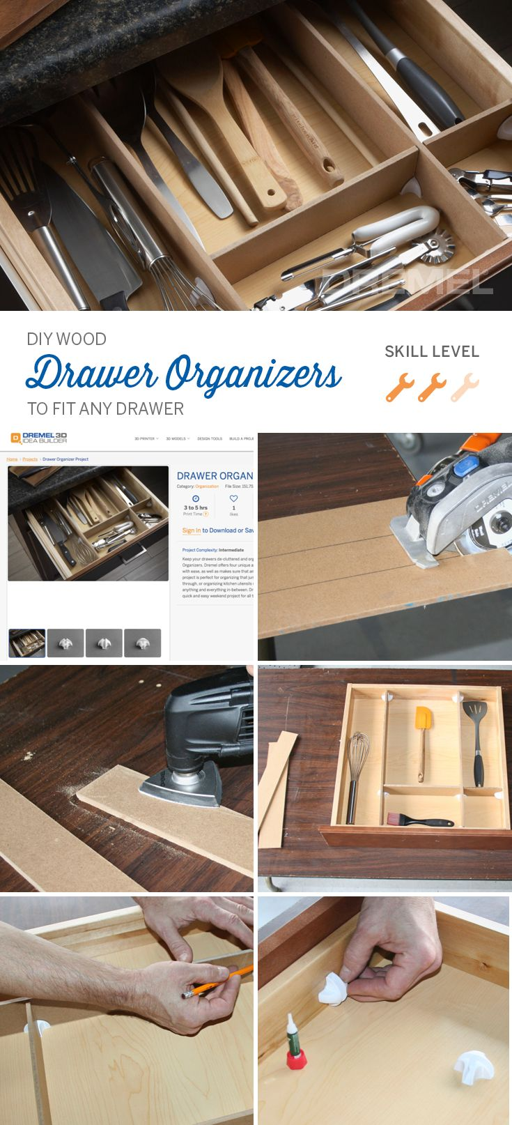 The best part about making your own DIY drawer organizers is you can make them fit ANY drawer.