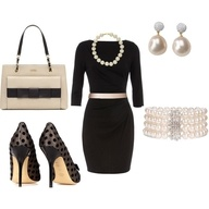 Classic: Shoes, Classy, Fashion Ideas, Dinners Outfits, Style, Clothing, Pearls, Outfits Ideas, Little Black Dresses