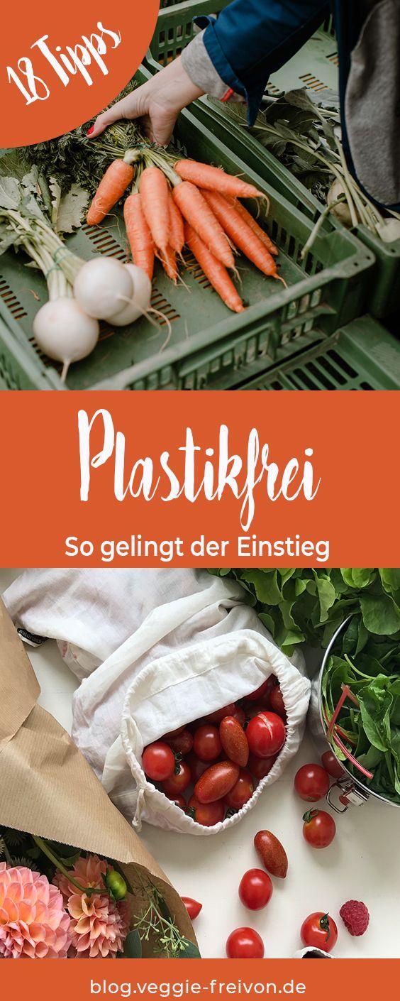 Plastikfrei einkaufen – 18 Tipps für deinen Einstieg. Müll vermeiden, plastikfrei einkaufen, Lebensmittel unverpackt einkaufen.