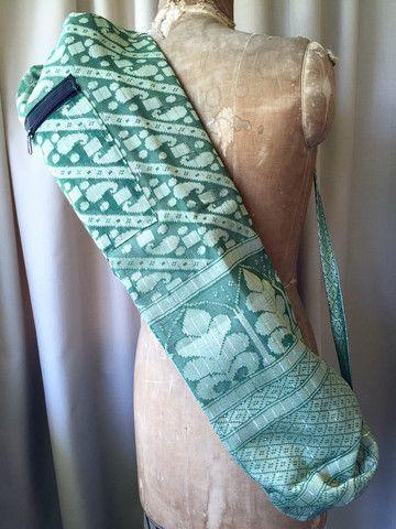 Sari Silk Yoga Bag : Moss Shop now NZ$25.00 Summer House NZ
