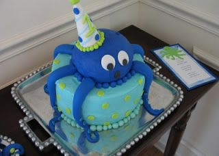 Cute cake for an Under the Sea Birthday Party