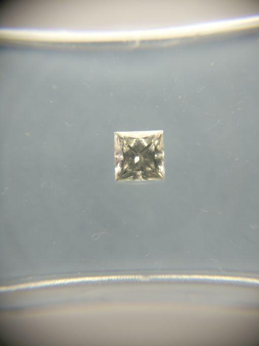 025 ct Princess cut diamond J VVS2  -Cert nr.: BA1200123-Prinses-025 ct-J-VVS2-Zie certificaat voor meer details.  EUR 1.00  Meer informatie