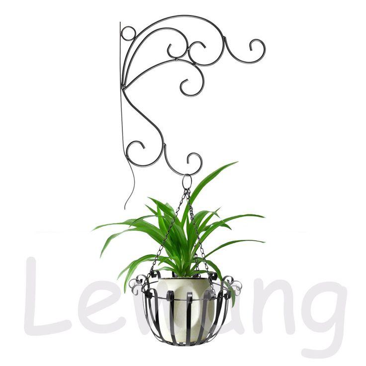 Metal Wall Hanging Pot Planter Basket Bracket Patio Garden Outdoor  Decoration UK | EBay
