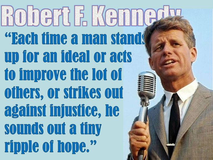 Robert F. Kennedy Quote on Civil Rights and inspiring others from a great PowerPoint on the Civil Rights Movement lesson plan!