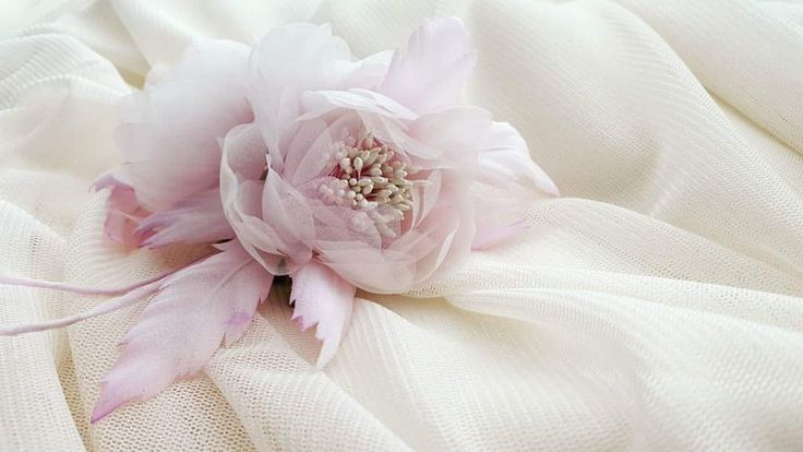Silk Organza Hair Piece / Floral Hair Pece / Bridal Hair Piece www.cameliavlad.ro