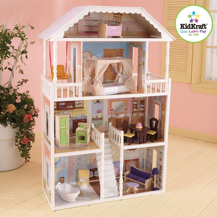 Savannah Dollhouse By Kidkraft  Ideal For Barbies, Bratz Dolls   Wood