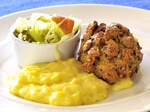 Kuřecí prsa s bylinkovou krustou a pórkovými brambory
