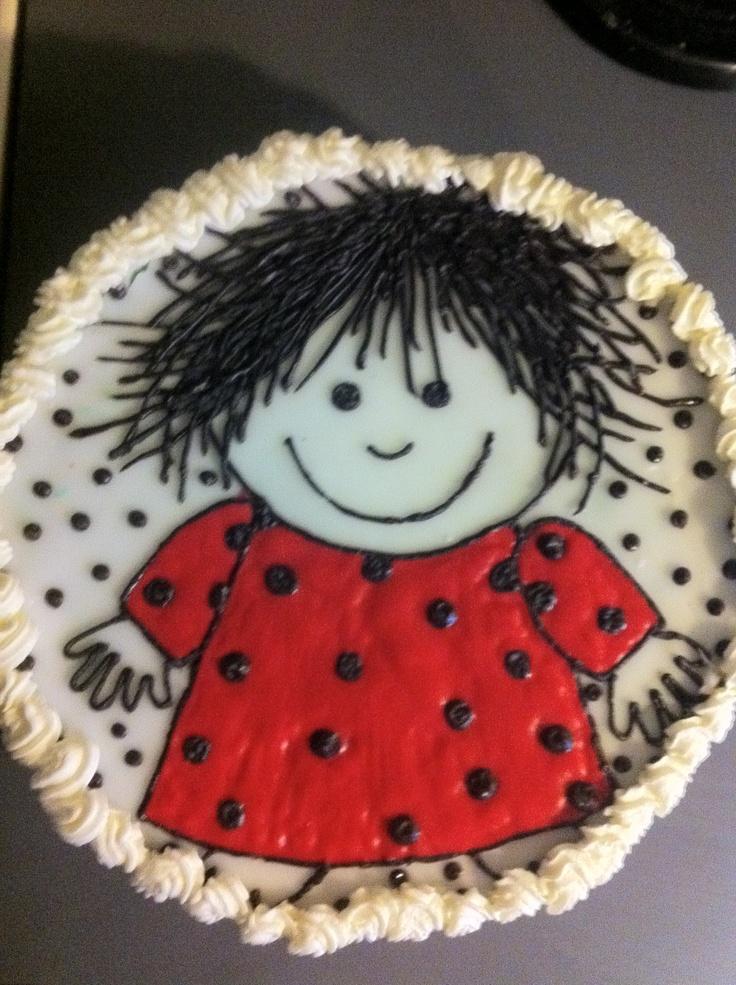 Homemade birthday cake. Cirkeline lagkage