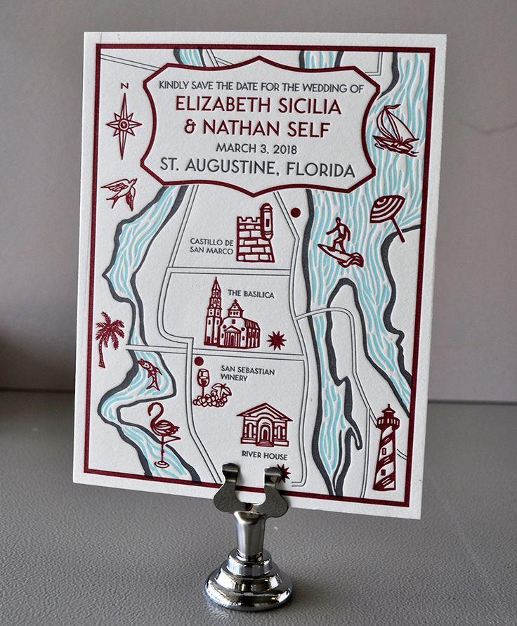 Letterpress map custom designed at Highway Press